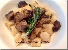 Recipe of the Month March: Ricotta Gnocchi with Wild Mushroom Sauce http://www.lindasitaliantable.com/recipe-of-the-month-march-ricotta-gnocchi-with-wild-mushroom-sauce/
