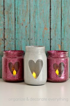 Welcome to the 1st segment of Emilee likes… She is so excited to share with you some of her creative ideas and from a teen point of view. Since she loves glitter and pink and Valentine's Day is coming soon she wanted to make a holiday decoration for her room. I think her glitter jars …