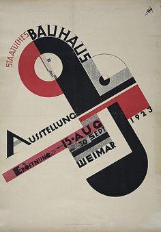 Joost Schmidt, Plakat zur Bauhaus-Ausstellung in Weimar 1923  / Bauhaus-Archiv Berlin