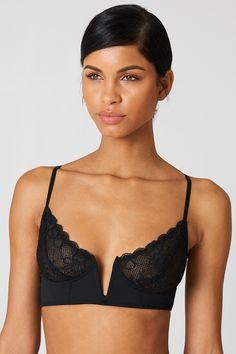 73b384deff V Cut Lace Bralette. Black Lace BraletteV CutsDresserChicSee ThroughBlack  LingerieShoulder StrapWomen s BrasWomen s Underwear