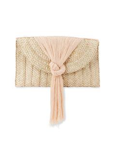 Nannacay Betula Woven Knotted Fringe Clutch | Neiman Marcus Dyson Hair Dryer Review, Hair Dryer Reviews, Professional Hair Dryer, Small Case, Bridal Clutch, Simple Gifts, Hair Tools, Neiman Marcus, Knots
