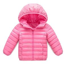 Nicelly Little Novelty Boys Girls Full-Zip Solid Thin Hooded Outwear Coat Parka