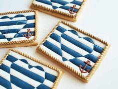 Nautical Stripe Cookies