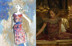 """Gerda (en la imagen interpretada por la actriz sueca Alicia Vikander) también experimenta una evolución de su vestuario a lo largo de la película. Al principio de la historia, en Copenhage, su ropa es más discreta y predominan los azules y los grises. Pero cuando la pareja se muda a París los colores de los vestidos de Gerda se vuelven más cálidos. """"Viste flecos, seda… Hay mucho más movimiento en su ropa"""", explicaba el diseñador en 'The New York Times'."""