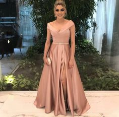 Beautiful Prom Dress, v neck bridesmaid dress champagne bridesmaid dress long formal dress satin prom gowns sexy prom dresses Meet Dresses V Neck Prom Dresses, A Line Prom Dresses, Cheap Prom Dresses, Quinceanera Dresses, Wedding Party Dresses, Satin Dresses, Evening Dresses, Prom Gowns, Formal Gowns