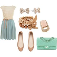 """Spring/Summer Day Date Outfit"" by christelcchappell on Polyvore"