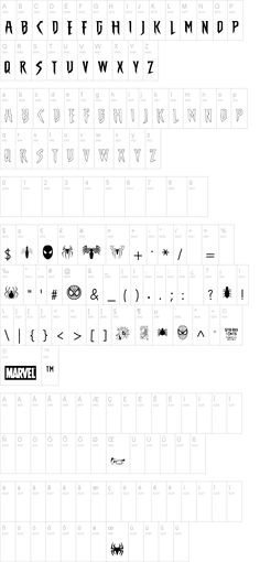 The Amazing Spider-Man Font for Banner and Confetti