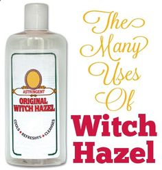Amazing Witch HazelFacial Cleansing, Acne Treatment, Scars  Stretch Marks, Soothe Diaper Rash, Bags Under The Eyes, Varicose Veins, Soothe Chicken Pox Blisters, Heal Bruises Faster, Heal Cuts and Scrapes, Soothe Razor Burn, Treat Sunburn, Treat Dry Skin, Soothe Tired, Puffy Eyes, Natural Deodorant, Sore Gums, Sore Throat, Laryngitis, Cold Sores, Scalp Deep Cleanse, Bug Bites, Poison Ivy and Poison Oak, Cleaning Dogs Ears, Tick Extraction, Household Cleaner, Jewelry Cleaner.