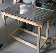 Custom Kitchen Sink Cabinet - In this Instructable I build a custom cabinet for a sit-on sink unit. While I'm installing this s -