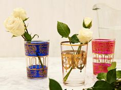 Moroccan Tea Glass Sets Love the colors and design.