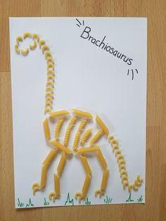 Dinosaur Art Projects, Dinosaur Crafts Kids, Dinosaur Activities, Toddler Learning Activities, Dinosaur Party, Preschool Activities, Macaroni Art, Macaroni Crafts, Older Kids Crafts