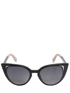be3390f31df FENDI - SHINY ACETATE CAT EYE SUNGLASSES - LUISAVIAROMA - LUXURY SHOPPING  WORLDWIDE SHIPPING - FLORENCE