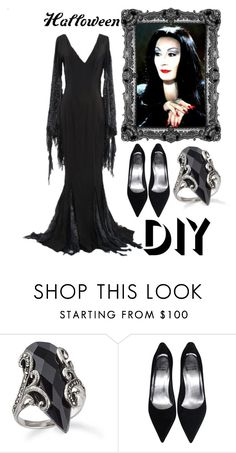 """Morticia Addams"" by morinef ❤ liked on Polyvore featuring halloweencostume and DIYHalloween"