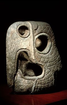 Mccaw head - possibly used as a ballgame marker. 600-900 A.D. Morelos, Mexico