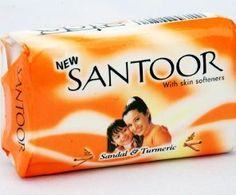Santoor Soap with Sandal And Turmeric by Santoor Soap. $3.99. Sandal helps your skin to soft and Turmeric work as antiseptic. Sandal soap with Turmeric. Halal and Vegetarian soap with Sandal and Turmeric. Santoor Soap with Skin Softners. It also help in break for prone and aging skin problems. SANTOOR- THE SECRET OF YOUNGER  LOOKING SKIN IN INDIA. Sandal and Turmeric have been an essential part of the Indian woman's skin care regimen for centuries. The tradition of H...