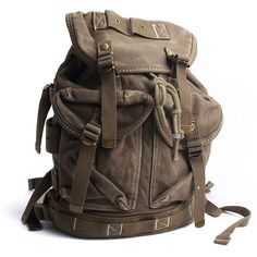 Vintage Canvas Outdoor Military Mens Rucksack Backpack Travel Bag $55