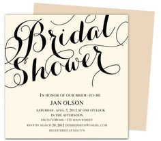 Elegant Bridal Shower Template