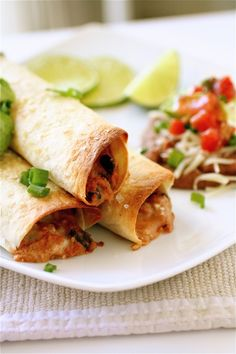 Baked Bean Taquitos - use corn tortillas?  Definitely use fat-free refried beans.