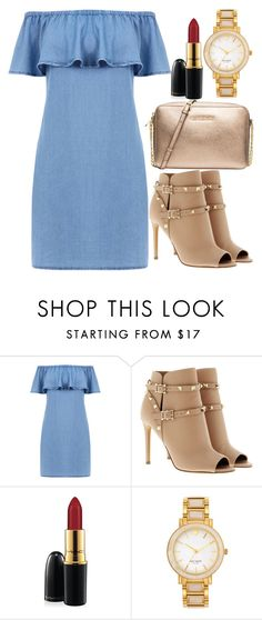"""Untitled#1520"" by mihai-theodora ❤ liked on Polyvore featuring Warehouse, Valentino, MAC Cosmetics, Kate Spade and Michael Kors"
