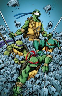When I was a kid I thought it was so cool that the TMNT comics had a character named April because there is almost never anyone named April in anything. Lol Anyway, that was part of what made them my favorite things to read back then. :]