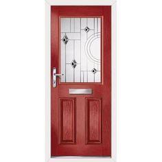 Image of Exterior Simplicity Crafton Bellini Composite Door, shown in Racing Red