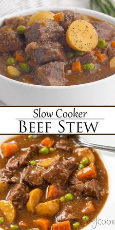 Crockpot Dishes, Beef Dishes, Crockpot Beef Stew Recipe, Beef Stew Crock Pot, Instapot Beef Stew, Crockpot Vegetable Beef Soup, Stew Meat Recipes, Cooking Recipes, Recipes With Beef Stew Meat