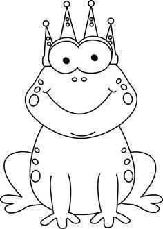 clip art black and white | Black and White Frog Prince Clip Art Image - black and white cartoon ...