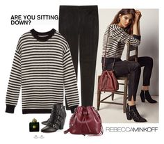 """""""Are You Sitting Down? - Rebecca Minkoff"""" by katiethomas-2 ❤ liked on Polyvore featuring Rebecca Minkoff and AMOUAGE"""