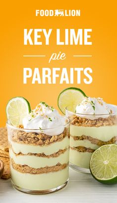 Healthy Desserts, Just Desserts, Delicious Desserts, Dessert Recipes, Yummy Food, Key Lime Parfait, Key Lime Pie, Wellness, Sweet Tooth