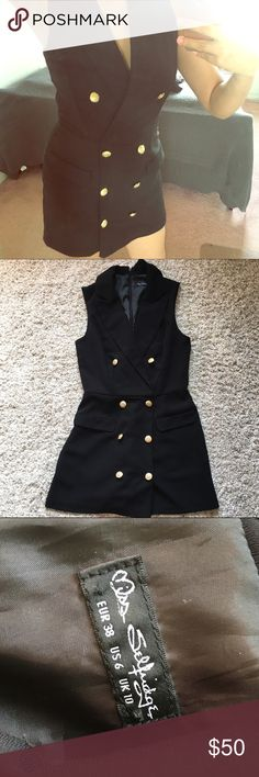 Button down Romper Never been worn. In excellent condition. NO damages at all. The material of this Romper is high quality and will last for years guaranteed. Miss Selfridge brand. Also comes with extra 2 buttons.  Try my bundle deals for better discounts 🤗 only put topshop to promote Topshop Dresses Mini