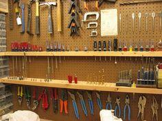 Resultado de imagen para makerspace tool holder bench