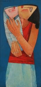 Ang Kiukok - Mother and Child Vince Low, Mother And Child Painting, Filipino Art, Philippine Art, Philippines Culture, Fashion Painting, Sacred Art, New Artists, Figurative Art