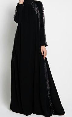 Abaya Fashion, Muslim Fashion, Fashion Outfits, Abaya Pattern, Black Abaya, Asian Model Girl, Abaya Style, Turban Style, Hijab Styles