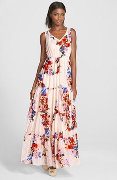 Raga 'Feeling Floral' Tiered Maxi Dress available at #Nordstrom