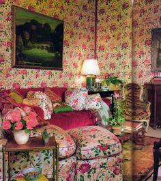 ✾ღ English Cottage Style, English Country Style, Country Charm, Country Decor, Decor Interior Design, Interior Decorating, Mario Buatta, Living Spaces, Living Room