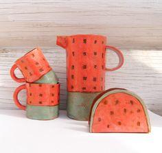 Watermelon Coffee Mug-Tea Cup-Ceramic Cup-Handmade by Vsocks