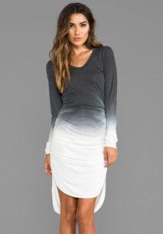 SAINT GRACE Rayon Jersey Amelie Ruched Dress