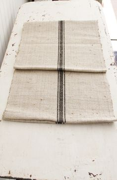 A Wonderful Heavy Homespun Hemp Linen Runner To Be Used Either On A Table  Or Floor.