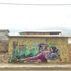 Tregua, 2016 @ Canoa, Ecuador #fiestadecolores2016 #mural #paste #collage #photograhy #art #yellowpages #art #streetart