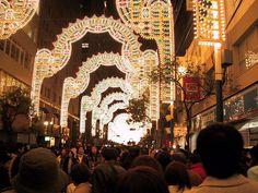 natale giappone usanze: Apertura del Festival delle Luci natalizie di Kobe