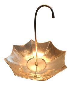 Mid-Century Brass Umbrella Candy Dish