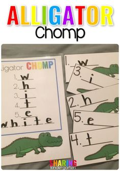 Alligator chomp. A f