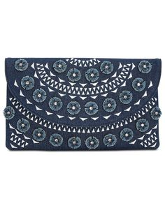 I.N.C. Huw Denim Floral Small Clutch, Created for Macy's - Clutches & Evening Bags - Handbags & Accessories - Macy's