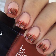 Waterfall Nails for Fall or Thanksgiving.