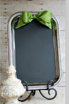 Christmas DIY Chalkboard serving tray