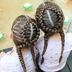 """These stayed in super well while the girls swam. I bet I could have even got away with wearing them a second day if I hadn't…"""" This is a crazy hairstyle Little Girl Hairstyles, Pretty Hairstyles, Braided Hairstyles, Girl Hair Dos, Natural Hair Styles, Short Hair Styles, Toddler Hair, Crazy Hair, Hair Designs"""