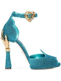 Dolce & Gabbana Bette Dolce & Gabbana present these unique Bette sandals for Spring Summer Blue High Heels, Leather High Heels, Leather Shoes, Blue Sandals, Blue Shoes, Summer Sandals, Shoes Sandals, Summer Shoes, Cristian Dior