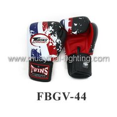 Twins Special Fancy Boxing Gloves Thai Flag FBGV-44 US$54.95