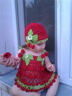 Baby Crochet Patterns Part 29 - Beautiful Crochet Patterns and Knitting Patterns Crochet Summer Hats, Crochet Summer Dresses, Crochet For Kids, Hat Crochet, Crochet Outfits, Crochet Dress Girl, Baby Girl Crochet, Crochet Baby Clothes, Knit Dress