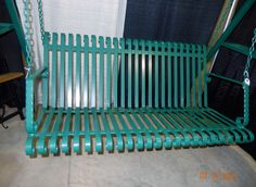 Handcrafted Wrought Iron Outside Porch Patio Garden Hanging Bench Swing Seat by LAZYKWroughtIron on Etsy https://www.etsy.com/listing/232758684/handcrafted-wrought-iron-outside-porch